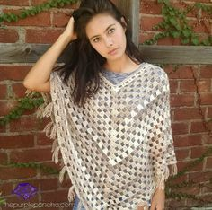 Timeless Boho Poncho – Free Crochet Pattern | The Purple Poncho