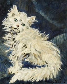 Francis Picabia (French, Le chat blanc [The White Cat], Oil and pencil on cardboard, x 39 cm. Land Art, Pablo Picasso, Art Transportation, Francis Picabia, Street Art, Oil Painting Reproductions, Traditional Paintings, Painting Process, Your Paintings