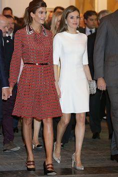 La Reina y la primera Dama de Argentina en Arco. 23.02.207