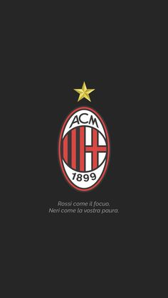 Ac Milan 🔴⚫️ #wallpaper #iphonewallpaper #acmilan #acmilanescudo #italia #seriea #redandblack #rossoneri