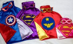 1 SUPERHERO Cape and Mask Superman  Batman  Hulk  Spiderman Ironman Captain America superhero you decide  great Birthday Party Gifts via Etsy $19