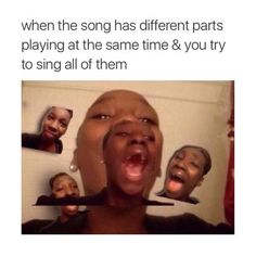 When You Singing The Main Verse And The Background Vocals All At The Same Time - Funny Memes. The Funniest Memes worldwide for Birthdays, School, Cats, and Dank Memes - Meme All Meme, Stupid Funny Memes, Funny Relatable Memes, Funny Tweets, Funny Posts, Funny Quotes, Humor Quotes, Meme Comics, 9gag Funny