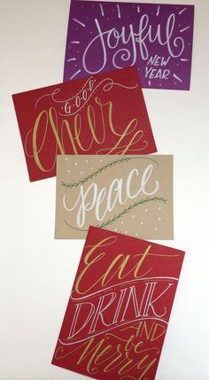 Lettering Lately blog > Hand-lettered holiday cards