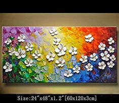 Modern Canvas Art Wall Decor Abstract Oil Painting Contemporary Art Abstract Paintings Framed Canvas Wall Art for Home Decor , Wall Decorations For Living Room Bedroom Office Ready to Hang Texture Painting On Canvas, Oil Painting Abstract, Painting Frames, Knife Painting, Textured Painting, Oil Paintings, Modern Canvas Art, Contemporary Wall Art, Canvas Wall Art