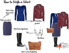how to style a skirt winter