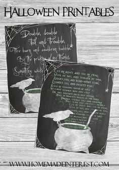 Create a scary chalkboard display with these printables