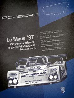Porsche Le Mans '97 Victory Poster by: Jeff Wolfe (pinterest.com/...)