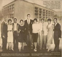 The Tougaloo Nine integrated The Jackson Municipal library in the 1960s.