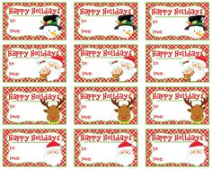 Christmas Gift Tags - Santa, Snowman, Reindeer Adorable Little Christmas gift tags will add a little fun to any package they are on!  Digital