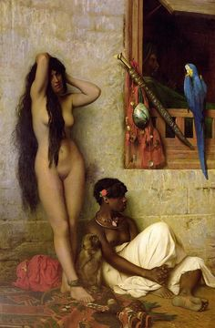 The Slave for Sale - Jean Leon Gerome;