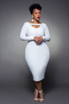 WE TV Stylist Goo Goo Atkins She putting a hit em hard in this white dress! Curvy Girl Fashion, Look Fashion, Plus Size Fashion, Fashion Outfits, Plus Size Dresses, Plus Size Outfits, Full Figured Women, Plus Size Beauty, Voluptuous Women