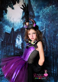 Maleficent inspired tutu dress  and by SofiasCoutureDesigns, $69.00