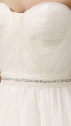 Reem Acra Virtue Strapless Gown: simple and elegant details