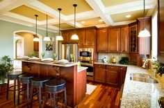 Lots of light and seating.  My dream Kitchen #mykchdreamhome