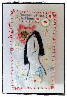 textile brooch by hens teeth, via Flickr