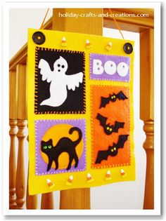 mini halloween banner free template and sewing tutorial sew whats new homemade halloween decorationseasy