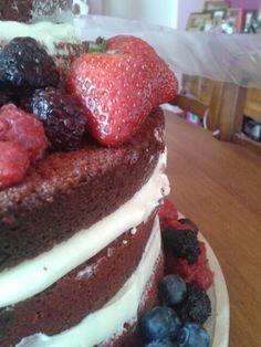 Red velvet torta rústica