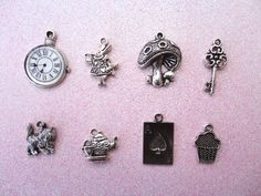 Alice in Wonderland Collection Charm I'm obsessed with Alice in Wonderland, so I'd love to add this to my collection! Wine Glass Charms, Mad Hatter Tea, My Boutique, Color Shades, Alice In Wonderland, Tea Party, Tea Cups, Jewelry Making, Money