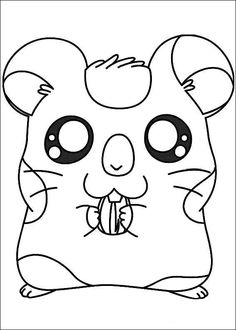 Hamtaro Coloring pages for kids. Printable. Online Coloring. 11