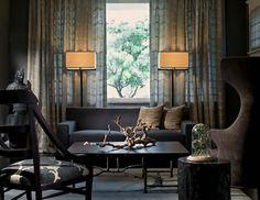 "Design Inspiration of Interior,room,and kitchen: ""Traditional Living rooms on the Dark Side"" Dark Living Rooms, Interior Design Living Room, Living Spaces, Living Area, The Dark Side, Galley Kitchen Remodel, Sombre, Dark Interiors, Best Interior"