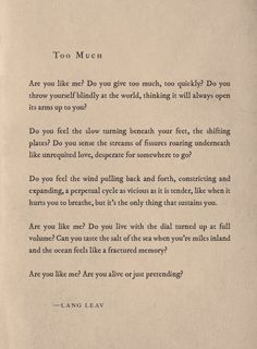 Motivational & mindful quote by author Lang Leav Poem Quotes, Wisdom Quotes, Words Quotes, Sayings, Qoutes, Pretty Words, Beautiful Words, Lang Leav Quotes, Perfection Quotes