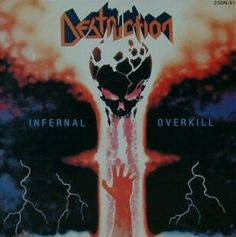 Band: Destruction Country: Germany Genre: Thrash Metal Album: Infernal Overkill Year: 1985 Track list: Invincible Force Death Trap The Ritual Vinyl Poster, Lp Vinyl, Thrash Metal, Destruction Band, Hard Rock, Musica Metal, Classic Video, Extreme Metal, Metal Albums