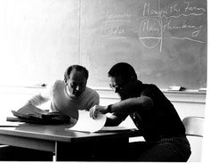 Wes Vivian teaches a class in the program that would later become known as the Gerald R. Ford School of Public Policy