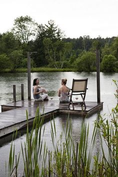 (By Nicole Franzen) That how i see myself in my dream cottage. Sitting on the dock by the lake with a cup of tea and a good friend. Lakeside Living, Outdoor Living, Lake Cottage, In Vino Veritas, Lake Life, Country Life, Country Living, The Great Outdoors, Hygge