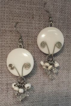 AllaP: Button Earrings (using shank in back for wiring)