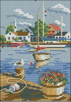 Thrilling Designing Your Own Cross Stitch Embroidery Patterns Ideas. Exhilarating Designing Your Own Cross Stitch Embroidery Patterns Ideas. Cross Stitch Sea, Cross Stitch House, Cross Stitch Flowers, Cross Stitch Charts, Cross Stitch Designs, Cross Stitch Patterns, Cross Stitching, Cross Stitch Embroidery, Embroidery Patterns