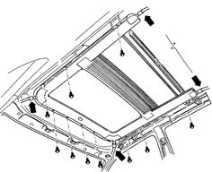 Cadillac Sunroof Diagram