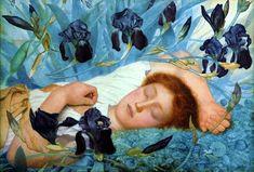 "darksilenceinsuburbia: "" George Lawrence Bulleid. Iris, early works. - artist bio via Dark Silence in Suburbia """