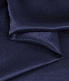 Navy Blue Crepe Back Satin Fabric | onlinefabricstore.net
