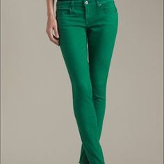 👀Searching for Emerald Green Skinny Jeans👀 Hey guys! I searching for emerald green skinny jeans. Size 9/10. Preferable new! Pants