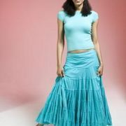 Broomstick skirts are long, flowing skirts featuring multiple tiers of gathered fabric. The style is distinguished by a uniquely wrinkled appearance, though number of tiers may vary widely. Consider using a variety of fabric colors and prints to achieve a colorful final effect. Broomstick skirts are a suitable casual style for the warmer months and...
