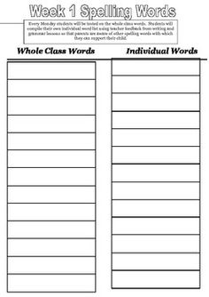 This is a booklet I use with my year Each week they complete one activity with their spelling words and each night they must LCSVWC all of their words. I use the spelling words page as an in class handwriting lesson too. Spelling Homework, Spelling Words, Handwriting, Booklet, Teaching Resources, Sunshine, Activities, Night, Calligraphy