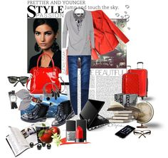 """Jump and touch the sky! Travel to Paris...or maybe..hm,.. sky!?"" by maggy-56 ❤ liked on Polyvore"