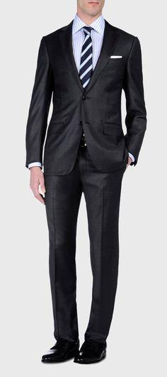 ERMENEGILDO ZEGNA: Suit Cool wool Button, zip 2 buttons Dual ba Grey, Detail 5 - 49136408HK Always Aim2Win!