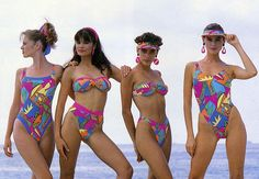 The History of Kiwi Beach Culture - and the Bikini - Viva Vintage Bikini, Vintage Swimsuits, Beachwear Fashion, Bikini Fashion, 80s Swimsuit, Summertime Girls, Fashion Model Poses, 80s And 90s Fashion, Coral