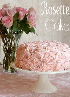 A Beautiful Rose Cake from @Decorchick