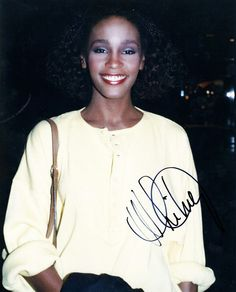Whitney Houston autograph