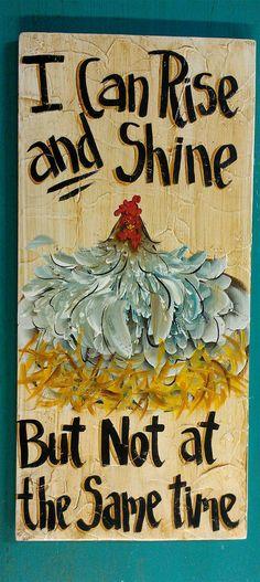 Folk Art Chicken Painting Original art by cackleblossums on Etsy, $69.00