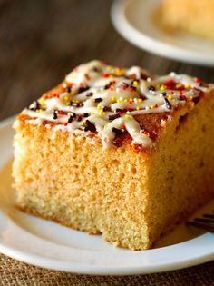 Harvest Apple Donut Snack Cake... This cake is phenomenal! A definite must-try fall recipe!