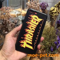 thrasher iphone7s/8 plusケース 炎