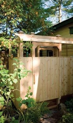 Wood Outdoor Shower Plans Free