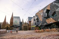 Federation Square: Australian Center for the Moving Image in Melbourne - Read more: http://www.asherworldturns.com/federation-square-australian-center-for-the-moving-image/