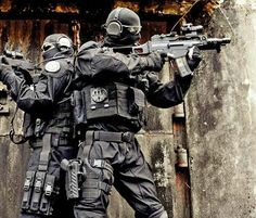 "French GIPN Special Task Unit. GIPN is an initialism for Groupes d'Intervention de la Police Nationale or French National Police Intervention Groups. Its motto is ""La cohésion fait la force"" or ""Cohesion brings strength."""