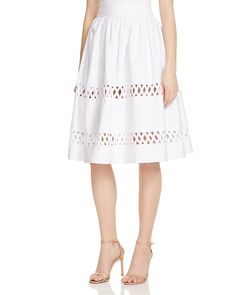 Alice + Olivia Lattice Trim Pouf Skirt - 100% Bloomingdale's Exclusive | Bloomingdale's