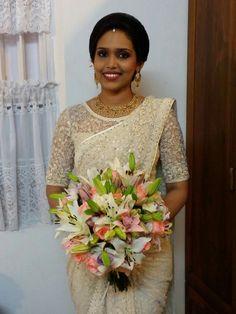 Christian wedding# Bride in saree #Kerala wedding