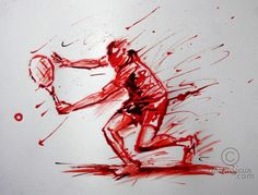 Squash Club, Tennis Drawing, Art Gallery, Pastel Drawing, Roger Federer, Wimbledon, Ink, Drawings, Squashes